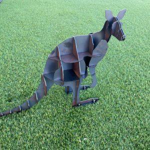 Kangaroo Garden Art